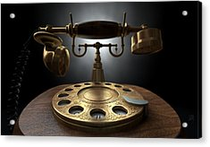 Vintage Telephone Dark Isolated Acrylic Print