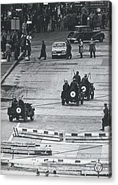 Volkspolice Tried To Hinder The American Traffic In Berlin Acrylic Print by Retro Images Archive