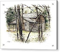 Walker Sisters Farm House Acrylic Print by Bob  George