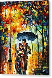 Warm Night Acrylic Print by Leonid Afremov