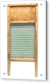 Washboard Acrylic Print by Olivier Le Queinec