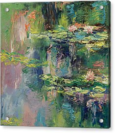 Water Lilies Acrylic Print by Michael Creese