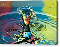 Water Splash Having A Bad Hair Day Acrylic Print