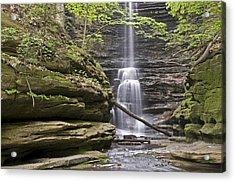 Waterfall At Matthiessen State Park Acrylic Print