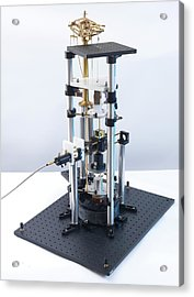 Watt Balance Acrylic Print by Andrew Brookes, National Physical Laboratory