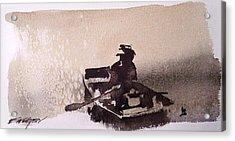 Acrylic Print featuring the painting Waubascon Lake by Ed  Heaton