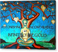 Acrylic Print featuring the painting We Are Infinitely Precious by Janet McDonald