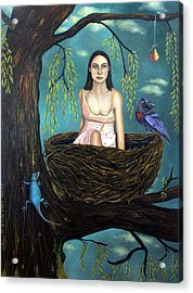 Weeping Willow Acrylic Print by Leah Saulnier The Painting Maniac