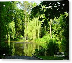 Acrylic Print featuring the photograph Weeping Willow Pond by Lyric Lucas