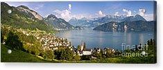Weggis Switzerland Acrylic Print by Brian Jannsen