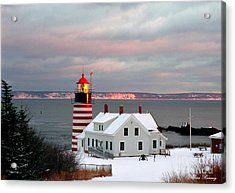 West Quoddy Head Lighthouse Acrylic Print by Alana Ranney