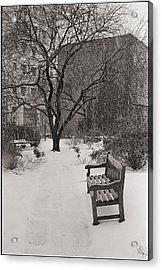 West Village Snow  Acrylic Print