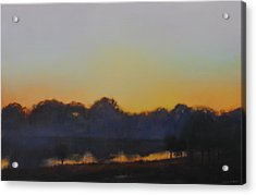 Acrylic Print featuring the painting White Rock Lake Dusk Sold by Cap Pannell