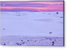 Acrylic Print featuring the photograph White Sands New Mexico by Bob Pardue