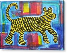 Wild Cat Acrylic Print by Diane Pape