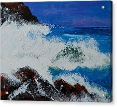 Wild Sea Acrylic Print by Judi Goodwin