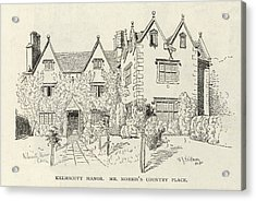 William Morris  English Writer's Home Acrylic Print by Mary Evans Picture Library