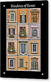 Windows Of Rome Acrylic Print