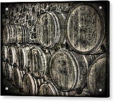 Wine Barrels Acrylic Print by Deborah Knolle