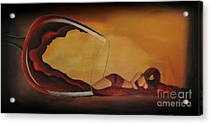 Wine-spilled Woman Acrylic Print