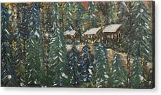 Winter Has Come To Door County. Acrylic Print by Andrew J Andropolis