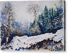 Winter In Dombay Acrylic Print by Zaira Dzhaubaeva