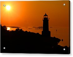 Winter Island Lighthouse Sunrise Acrylic Print