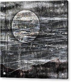 Winter Moon Acrylic Print by Carol Leigh