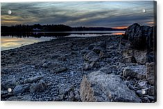 Winter Sunset On The Lake Acrylic Print