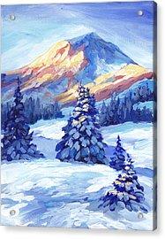 Winter Sunset  Acrylic Print by Peggy Wilson