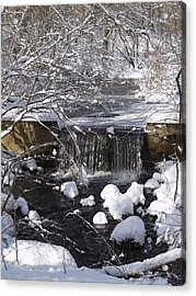 Winter Waterfall Acrylic Print by Patricia McKay