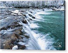Winter Waterfall Acrylic Print by Thomas R Fletcher