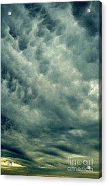 Winters Last Storm Acrylic Print by Michael Hoard