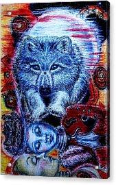 Wolf Dream Acrylic Print by Elizabeth Clausen
