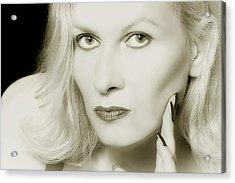 Woman Acrylic Print by Christine Sponchia