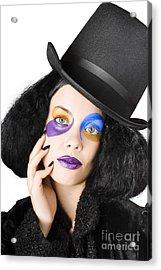 Woman Dressed As Jester Acrylic Print