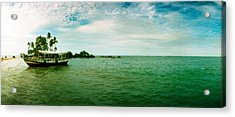 Wooden Boat Moored On The Beach, Morro Acrylic Print