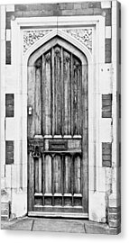 Wooden Door Acrylic Print by Tom Gowanlock