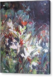 Acrylic Print featuring the painting Woodland Bouquet by Mary Lynne Powers
