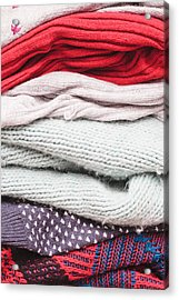 Wool Jumpers  Acrylic Print by Tom Gowanlock