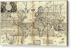World Map Acrylic Print by Library Of Congress, Geography And Map Division