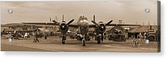 World War II B-25 Bomber Briefing Time  Acrylic Print by Angelo Rolt