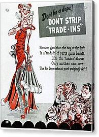 World War II Poster, 1945 Acrylic Print