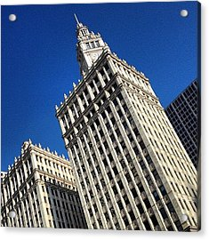 Wrigley Building- Chicago Acrylic Print by Mike Maher
