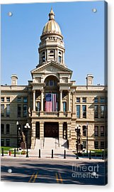 Wyoming State Capital Acrylic Print
