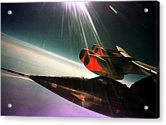 X-15 Aircraft On A Boeing B-52 Acrylic Print