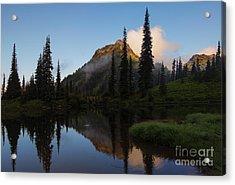 Yakima Peak Reflections Acrylic Print by Mike  Dawson