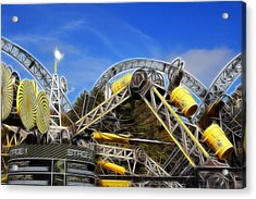Alton Towers Smiler Roller Coaster Ride Acrylic Print by Doc Braham