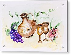 Young French Wine  Acrylic Print by Irina Gromovaja
