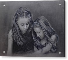 Young Sisters Acrylic Print by Colleen Gallo